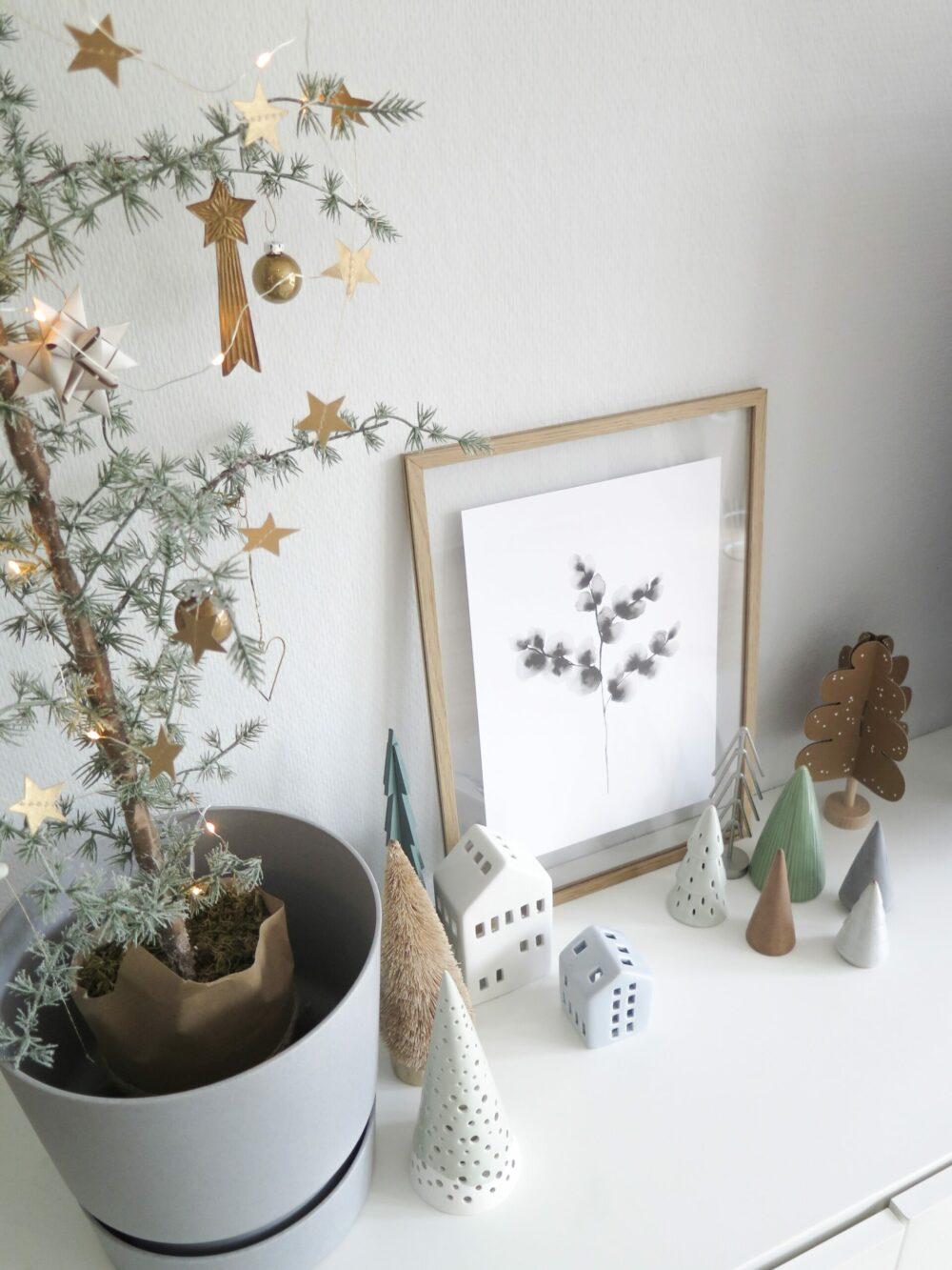 Een verzameling kerstboompjes